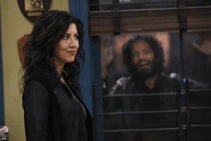 Adrian Pimento Up Against Window Brooklyn 99 meme template