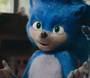 Sonic Shrugging Sonic meme template