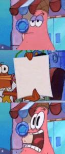 Patrick and Spongebob Police Holding Sign Holding Sign meme template