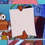 Patrick and Police Holding Sign Spongebob meme template blank