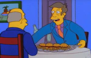 Skinner Offering Steamed Hams Food meme template