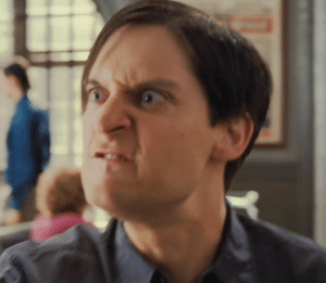 Angry Peter Parker Spiderman meme template