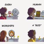 Every Human Worships a God comic (blank)  meme template blank religion communism