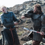 The Hound vs. Brienne Game of Thrones meme template