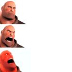 Heavy getting Increasingly Angrier  meme template blank Increasing, Gaming, TF2, laser eyes