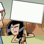 Sam Holding Sign / Protesting  meme template blank Danny Phantom Nickelodeon