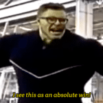 Hulk 'I see this as an absolute win'  meme template blank marvel avengers glasses
