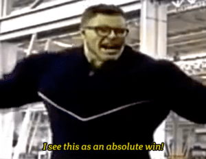Hulk 'I see this as an absolute win' Excited meme template
