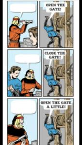 Open the Gate Comic Opinion meme template