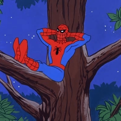 Meme Generator - Spiderman relaxing in tree - Newfa Stuff