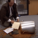 Kevin Spilled Chili  meme template blank The Office