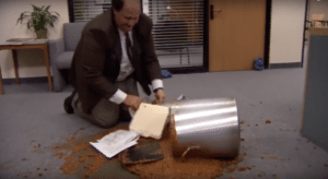Kevin Spilled Chili The Office meme template