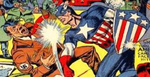 Captain America Punching Hitler Avengers meme template