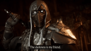 Darkness is my friend Gaming meme template