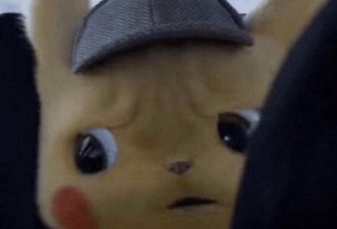 Disturbed Detective Pikachu  meme template blank Pokemon