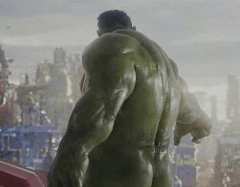 Hulk's butt  meme template blank Marvel Avengers