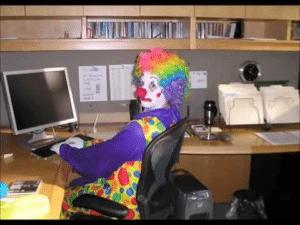 Clown at Computer Clown meme template