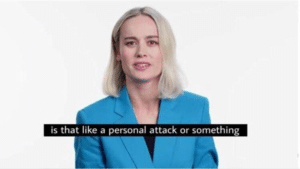 Brie Larson 'is that like a personal attack' Avengers meme template