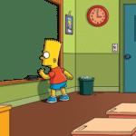 Bart Chalkboard (blank)  meme template blank Board, screen, sign=Simpsons