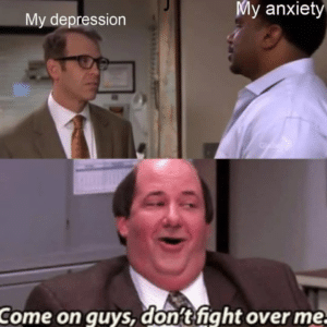 Kevin 'Come on guys dont fight over me' The Office meme template