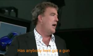 Has anybody here got a gun Getting meme template