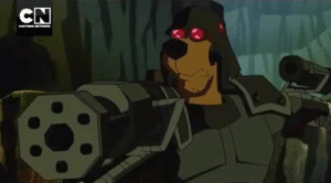 Military Scooby Doo with Guns Gun meme template