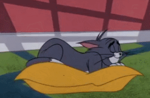 Tom Cat sleeping on pillow Tom and Jerry meme template