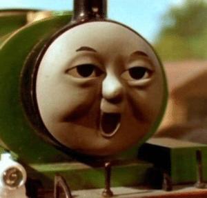 Surprised Train Surprised meme template