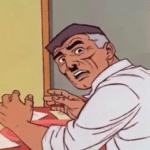 Jonah Jamesom Surprised Looking Behind Spiderman meme template blank