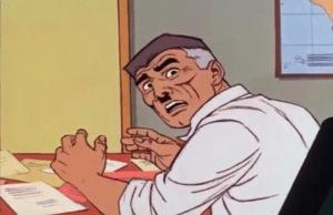 Jonah Jameson Surprised Looking Behind Surprised meme template