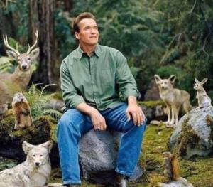 Arnold Schwarzenegger in nature Food meme template