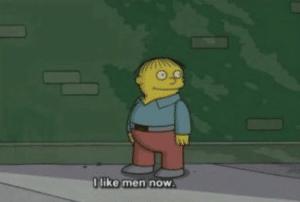 "Ralph ""I like men now"" Gay meme template"