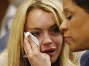 Lindsay Lohan Crying Sad meme template