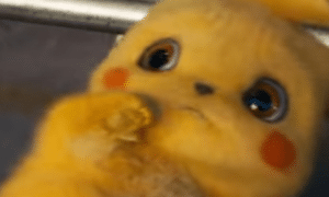 Scared Detective Pikachu Pokemon meme template