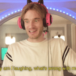 Pewdiepie 'Why am I laughing, whats wrong with me'  meme template blank YouTube