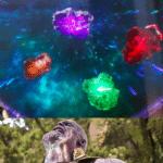 The infinity stones  meme template blank Marvel Avengers, Thanos