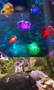 The infinity stones Thanos meme template