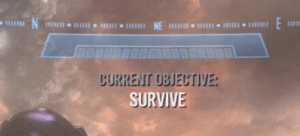 Current objective: Survive Gaming meme template