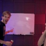 Pewdiepie Pointing at Board  meme template blank