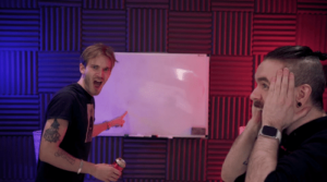Pewdiepie Pointing at Board Opinion meme template