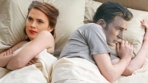 Steve Rogers and Peggy in bed Stranger Things meme template