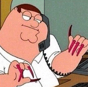 Peter Griffin Long Nails Opinion meme template