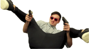 Filthy Frank pointing guns YouTube meme template