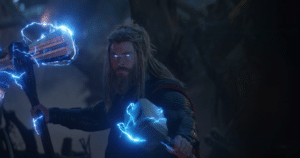 Thor with hammer and axe Avengers meme template