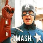 Captain America 'Smash!'  meme template blank Marvel Avengers