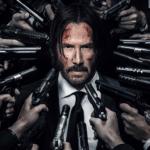 Guns pointing at John Wick  meme template blank Keanu Reeves