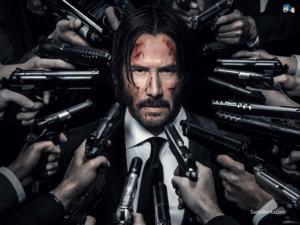 Guns pointing at John Wick Keanu meme template