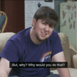 But why, why would you do that  meme template blank JonTron, YouTube
