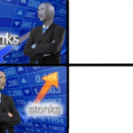 Stinks vs. Stonks (blank template)  meme template blank