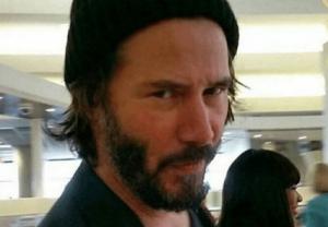 Keanu squinting, skeptical Keanu meme template